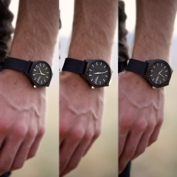 Small, medium, & large on a man's wrist