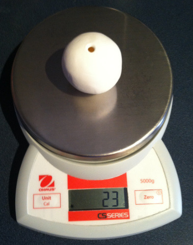 Hollow Bead, 2 inch, weighs just 23 grams, 8/10 ounce