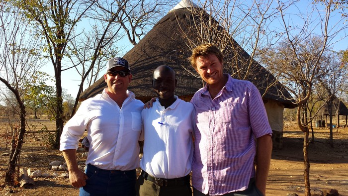 Spence, Joshua, Tarquin. Joshua and Tarquin live on the Masai Mara in Kenya and Joshua is from the Masai tribe. Great guys!