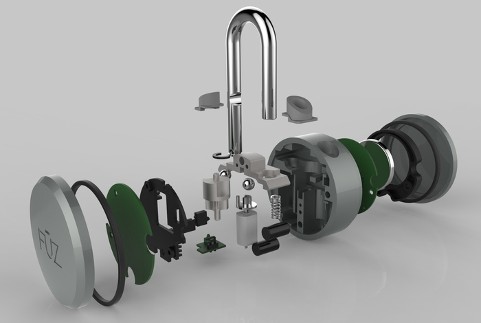 30 Parts All Come Together to Create the World's Most Advanced Padlock
