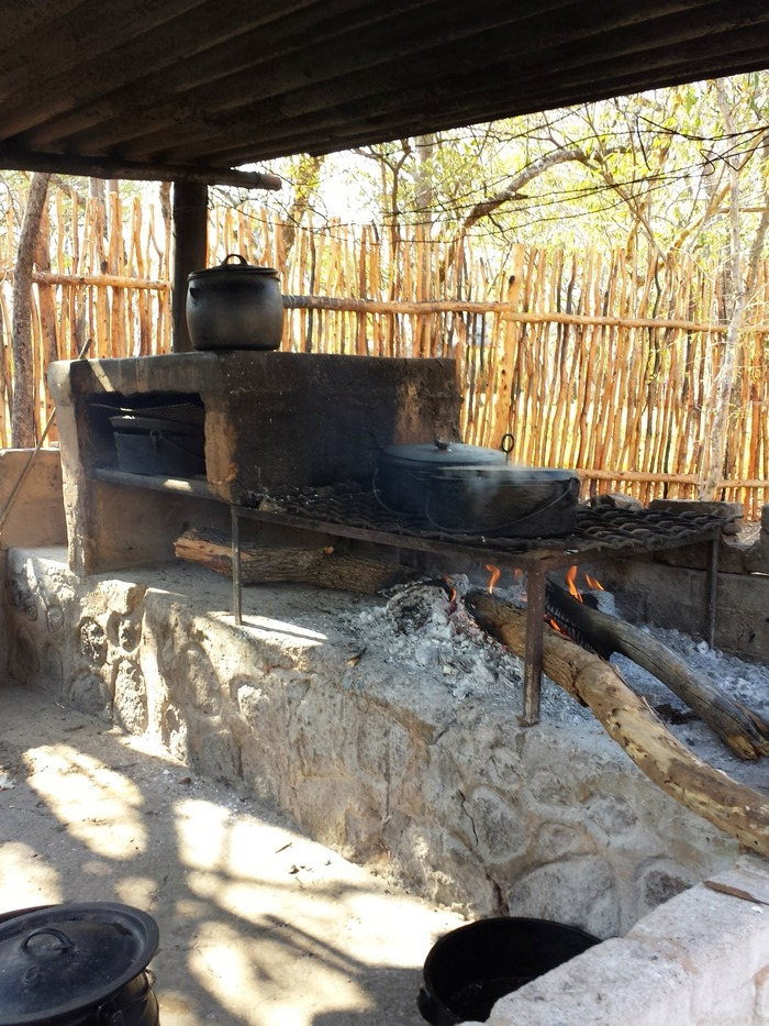 Where all our meals were cooked. Everything here is homemade: the food, the oven, the fire.