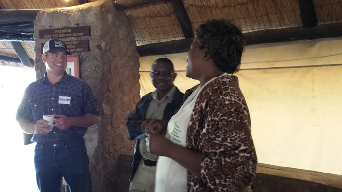 Telling stories with Huggins and Gladys from the Africa Centre for Holistic Management.