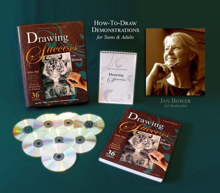 """""""Drawing Success"""" will include DVDs, a Lesson Book and a Photo-Reference Booklet, all in a beautiful handy case."""