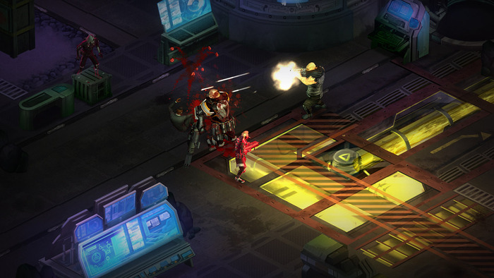 An example of some of the game's new visual effects and improved death sequences.