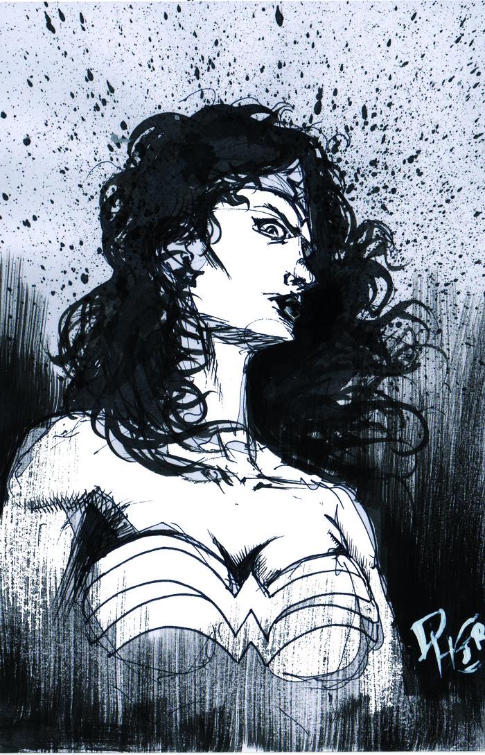 Wonder Woman inked!