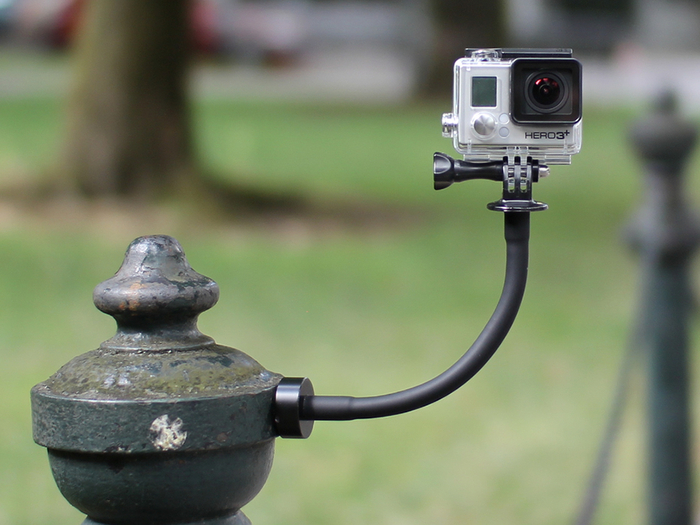 Snap your GoPro to any ferrous metal surface
