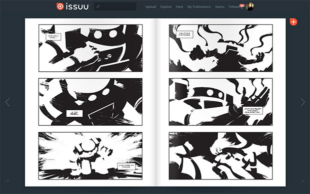 Read the first 8 pages in black and white on issuu.