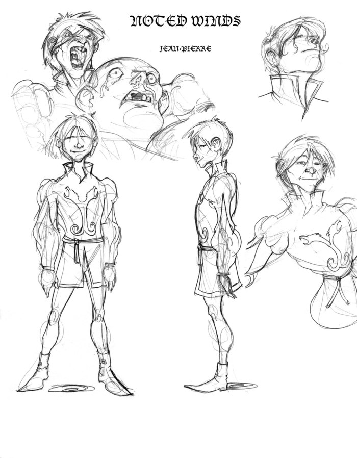 Character Design for Noted Winds