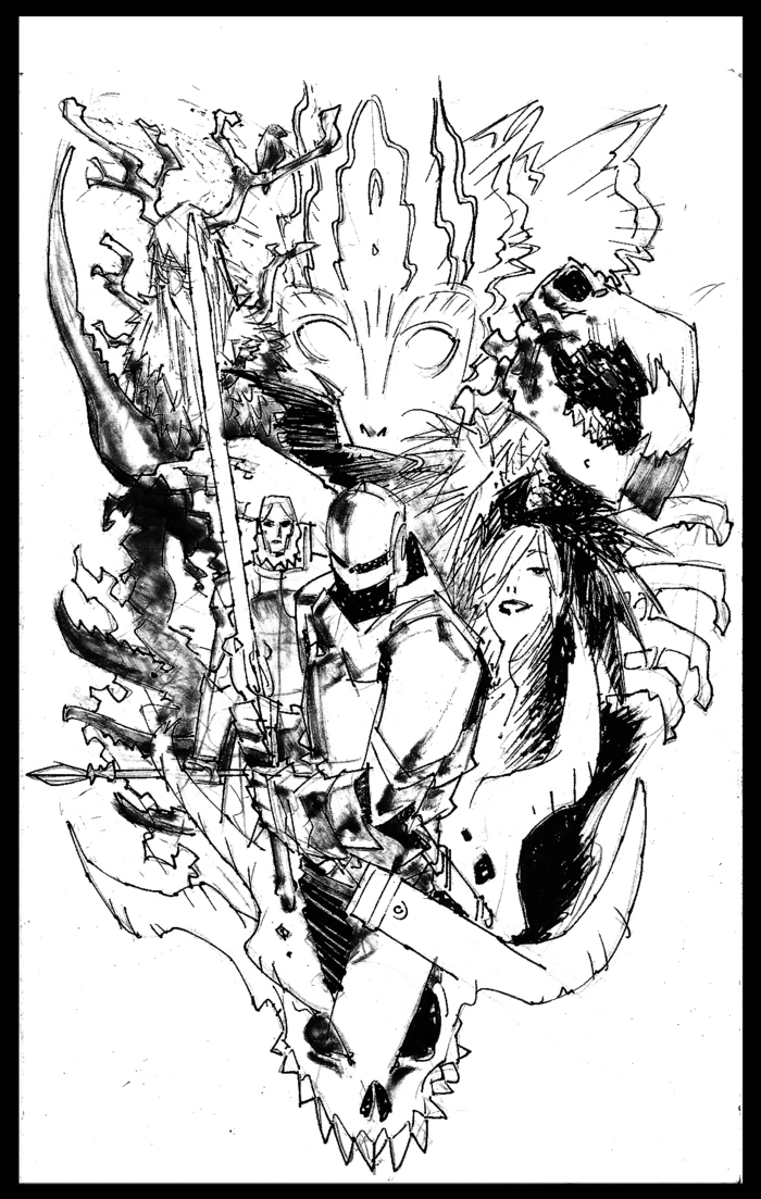 Image for special edition poster reward. Final will be in color.