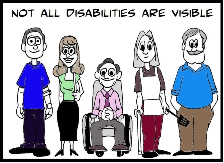Not all disabilities are visible cartoon