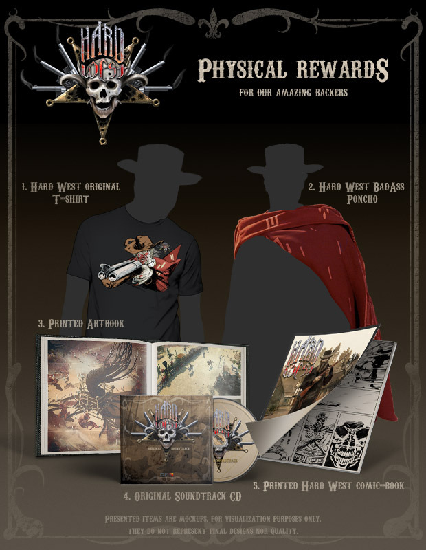 Hard West - physical rewards collection