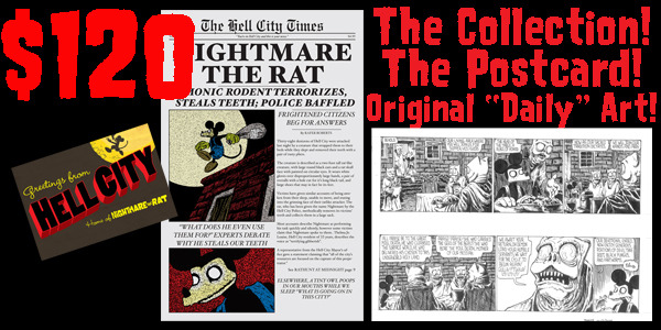 Own a piece of NIGHTMARE THE RAT. For $120 you get original art!