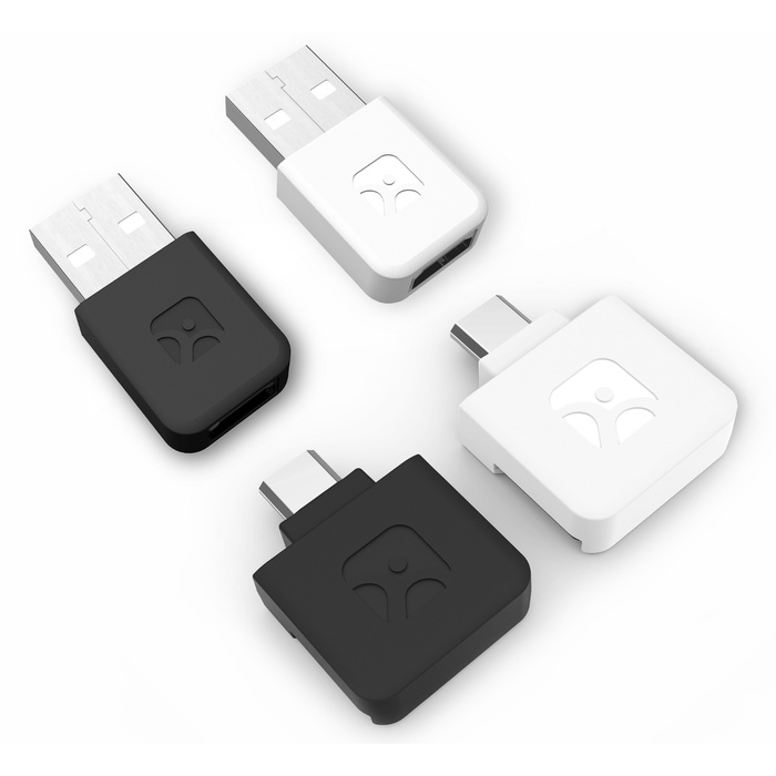 The new reader and USB-MicroUSB adapter