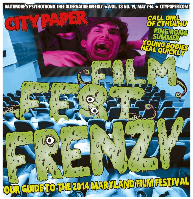 """Actor Alex Mendez aka Rick """"the dick"""" Pickman on the cover of Baltimore City Paper."""