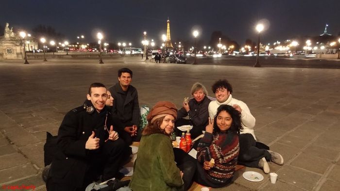 Ending Fashion Week with a picnic on the Place de la Concorde with Bobby and his crew. Picture by Charles Abbatucci.