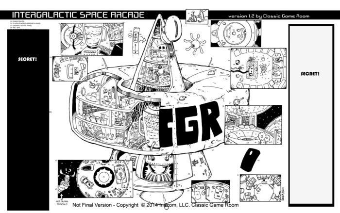 Classic Game Room Intergalactic Space Arcade