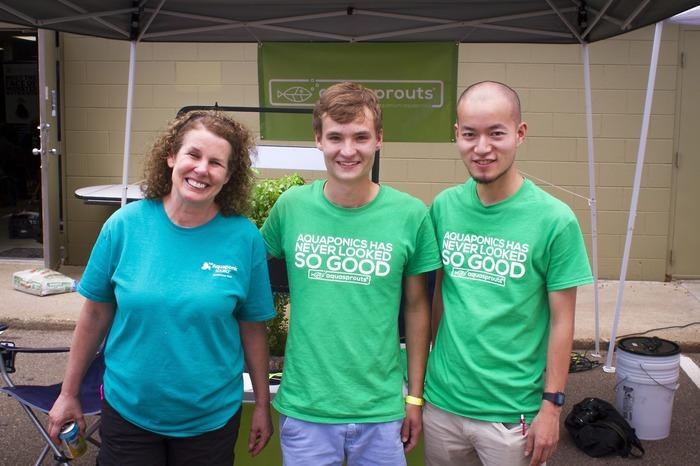 Sylvia, Jack & Yoshi at Aquaponics Fest 2014