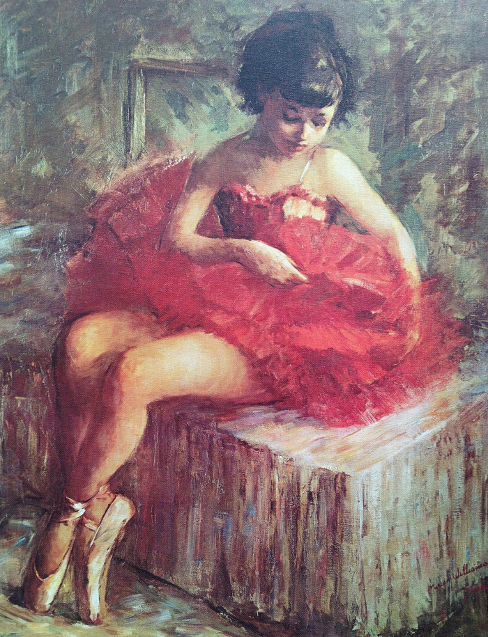 """Marian Williams steele, """"Young Ballerina"""", Giclée print of oil on canvas 18x25"""