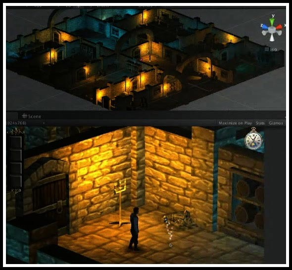 Wine Cellar - 3D Model and In-Game Point of View
