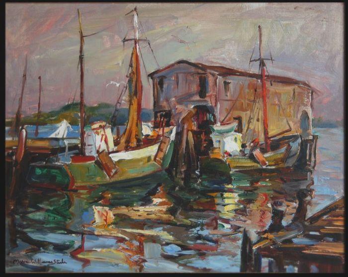 "Marian Williams Steele ""Days End"", oil on canvas 16x20"