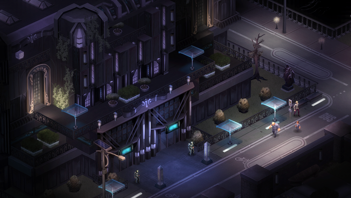 """In the original Dragonfall we never really got to show what life """"on the other side"""" looks like in Shadowrun - the cushy corporate enclaves of the future. One of the new missions will take you into a much more upscale residential area of Berlin."""