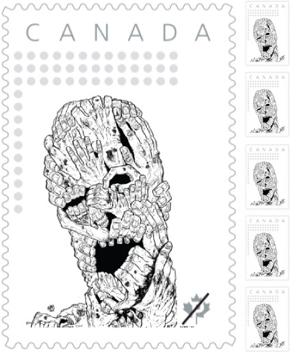 Canadian Zombie Head Stamps!
