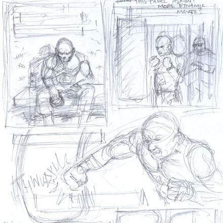 The original sketches of page 2 from April 2013