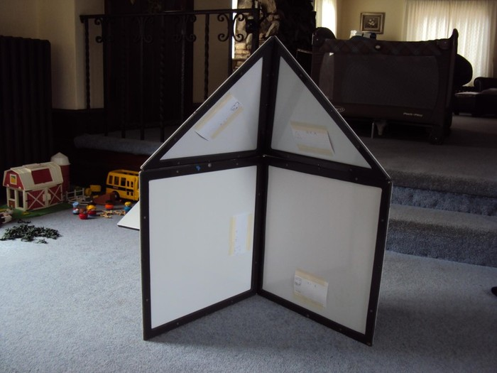 Second prototype made from PVC sheet.
