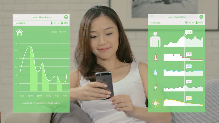 Data Insights: Monitor your AC usage and energy consumption.