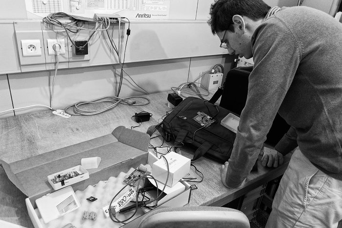 Setting up the system for EMC test