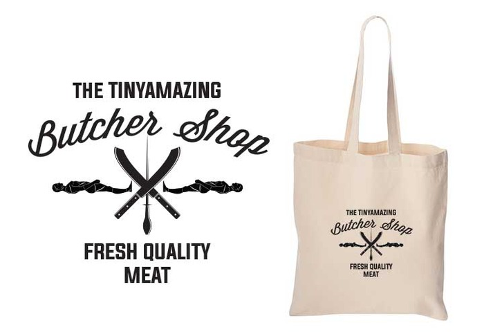 The TINYamazing Butcher Shop 100% Cotton Tote Bag