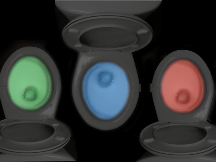 Illumibowl Clip On Toilet Night Light Motion Activated