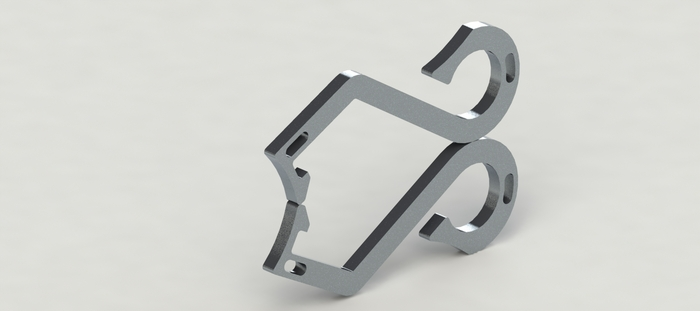 sleek titanium bottle opener by saac engineering kickstarter. Black Bedroom Furniture Sets. Home Design Ideas
