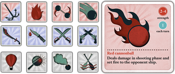 Behold a selection of some of the fine weaponry you'll be able to unleash upon your ennemies! Are you more of a broadsides or cutlass kind of corsair?