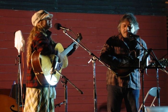 with Kentaro at Yakumo Bluegrass Festival