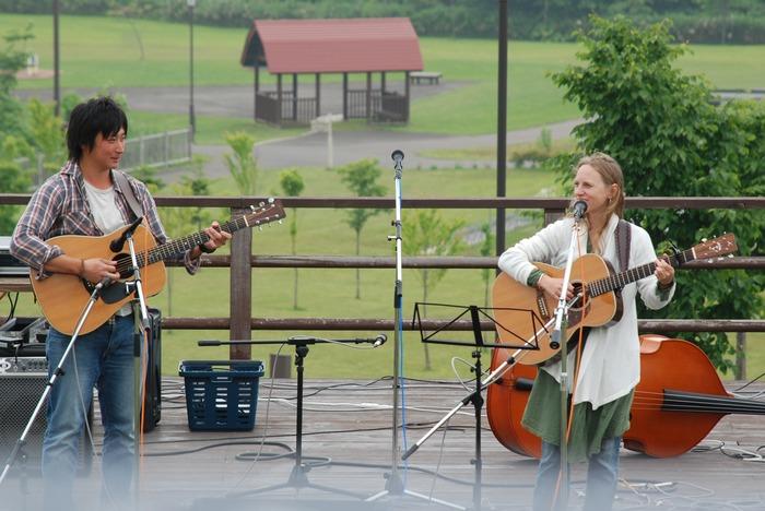 With Kenta at Yakumo Bluegrass Festival