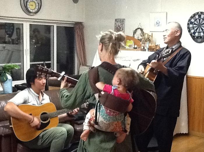 With Kenta and Achiwa Ichido, resident monk of Horinji Temple