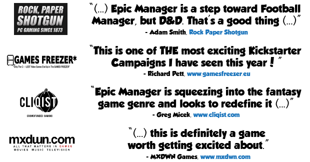 Games Freezer, Epic Manager