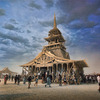 An example of the Temple Builder's work at Burning Man. Photo by Oliver Fluck.