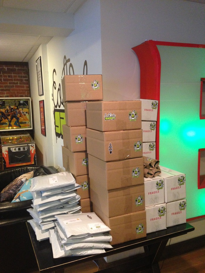 Pot Farm Board Game boxes and shipments