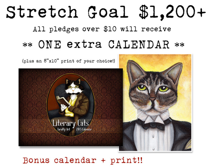 Literary Cat Art 2015 Calendar Cats In Period Clothing By