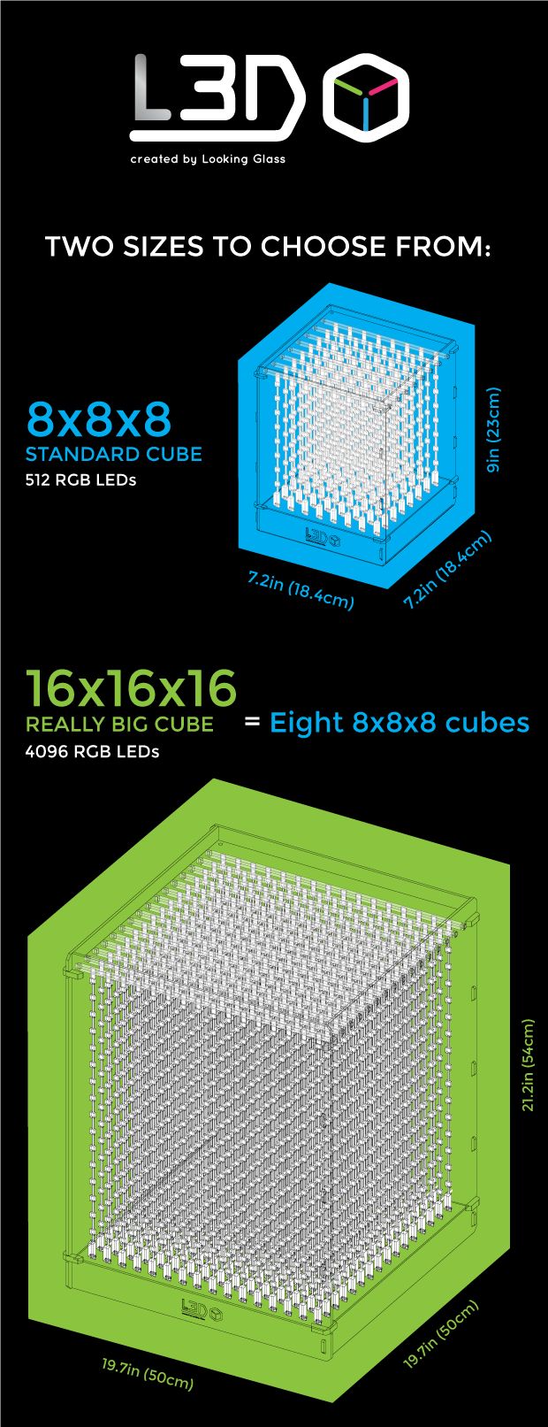 L3D Cube: The 3D LED Cube from the Future by Looking Glass ...