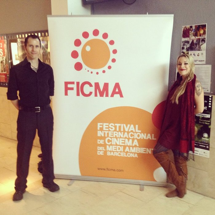 Director Zina Brown and Song Writer/Butterfly Queen Kai Altair at FICMA Barcelona for Dreams of the Last Butterflies