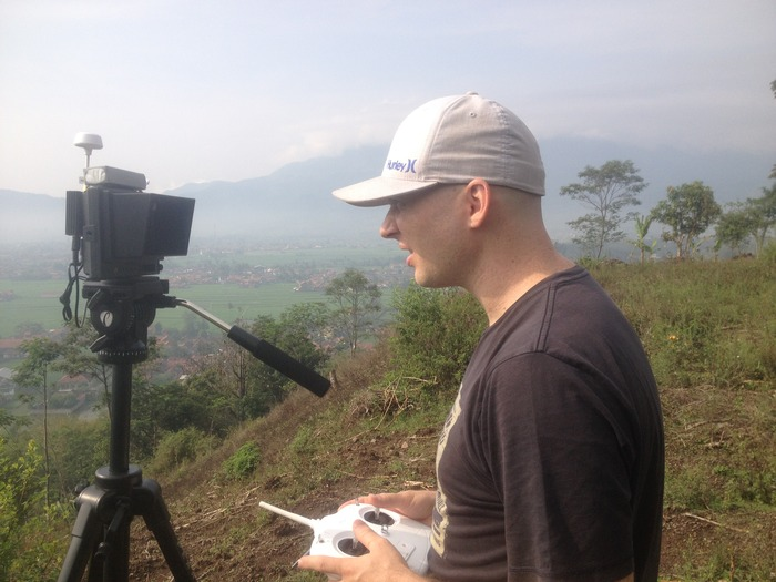 The wireless link allows us to monitor the GoPro Camera in real-time
