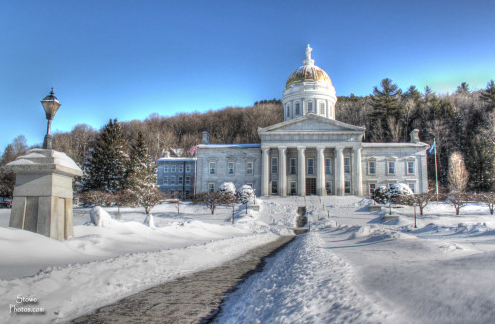 Vermont Statehouse where Governor Peter Shumlin will hold press conference with Bo Muller-Moore to announce USPTO decision on 'Eat More Kale'