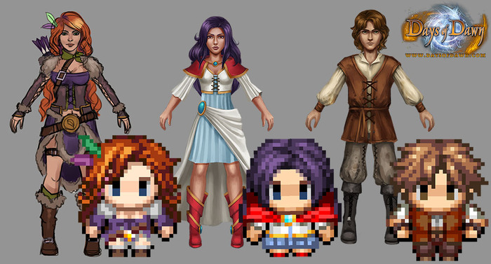 The Hidef and 16-bit characters in comparison