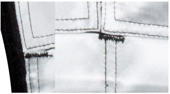 Re-inforced stitching at stress points