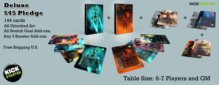 Deluxe - Expert set + All 3 18 card boosters. Good for 7-8 Players + GM
