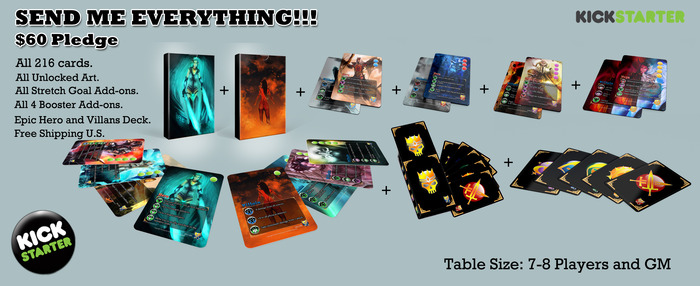 Epic - All the cards! The Expert set + all 4 boosters + The Epic Hero and Villain Card deck + 8X5x1 Game Box + Free Shipping U.S.