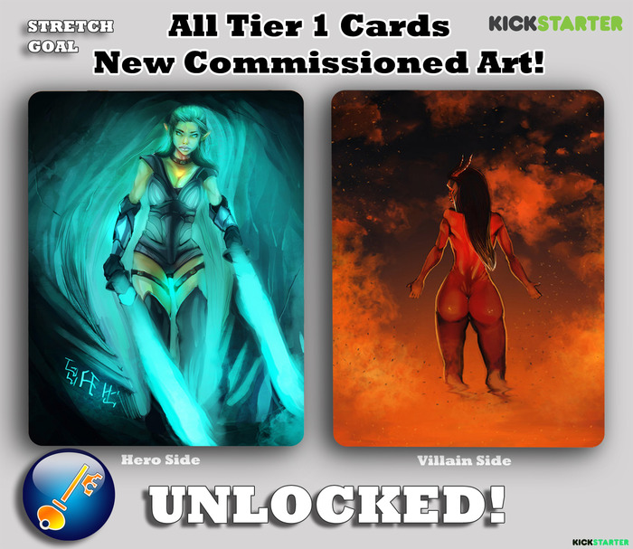 Woo! New Art for Tier 1 Cards Achieved! THANK YOU FOR BACKING US!!
